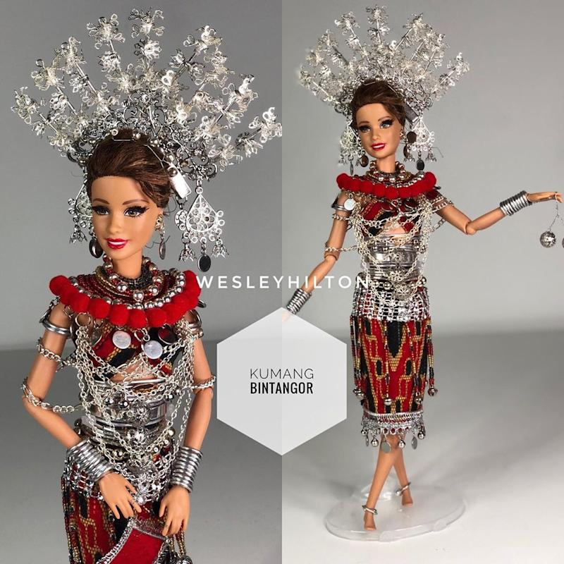 The intricate Kumang doll. Photo: Wesley Anak Juntan/Instagram