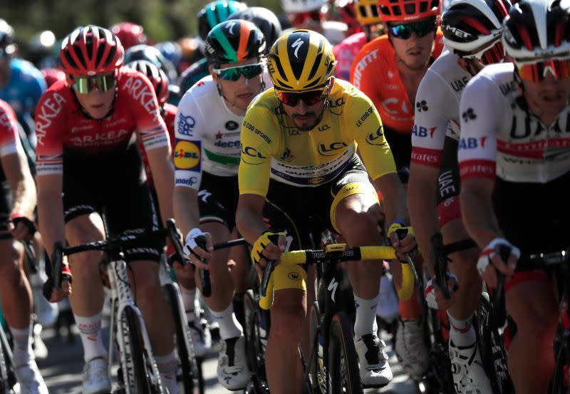 Penalty costs Alaphilippe yellow as Van Aert wins easy stage