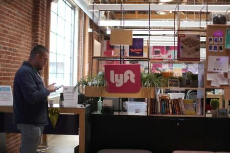 FILE PHOTO: The Lyft Driver Hub is seen in Los Angeles