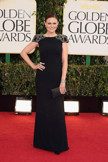 70th Annual Golden Globe Awards - Arrivals: Emily Deschanel