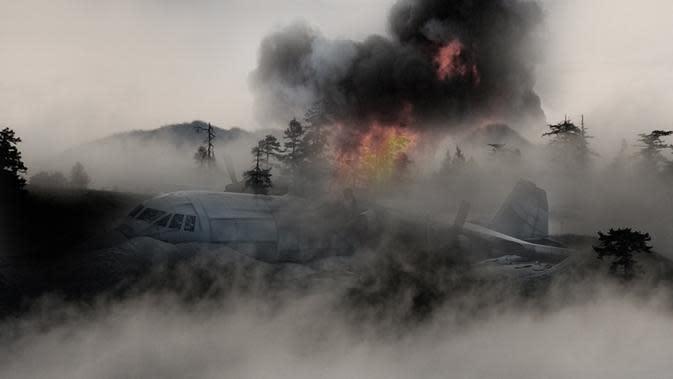 Ilustrasi Kecelakaan Pesawat