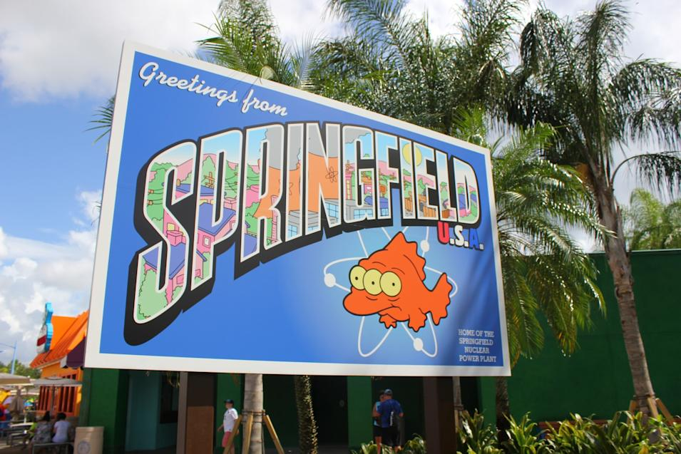 """The Simpsons"" Spiringfield at Universal Studios Orlando"