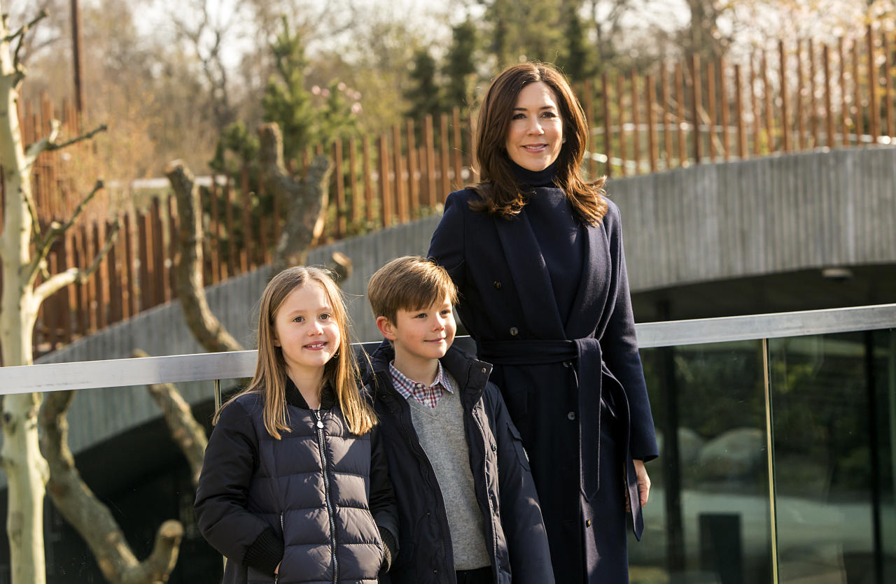 <p>Princess Mary with her twins Josephine and Vincent. Photo: Getty </p>