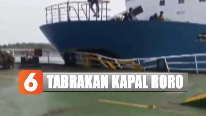 Detik-Detik Menegangakan Saat 3 Kapal Roro Bertabrakan di Perairan Selat Sunda
