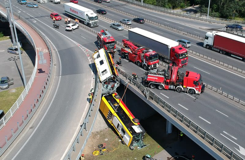 Bus driver charged over deadly Warsaw bridge crash