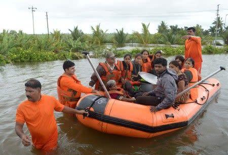 Jumlah korban jiwa banjir di India naik jadi 95, ratusan ribu diungsikan