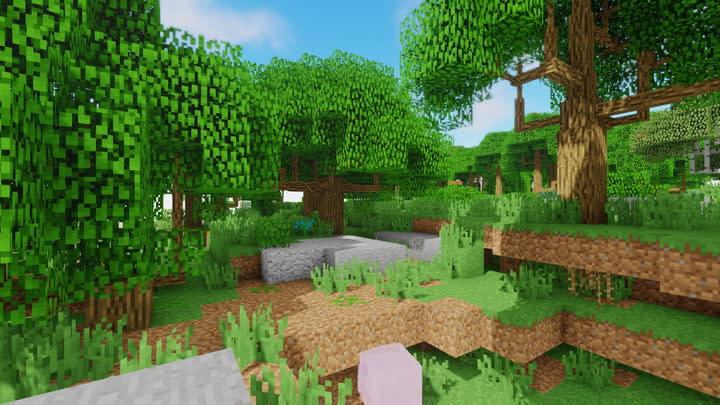 Minecraft hills screenshot