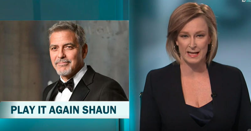 Host Leigh Sales couldn't resists a joke of two at Shaun's expense. Photo: 7:30