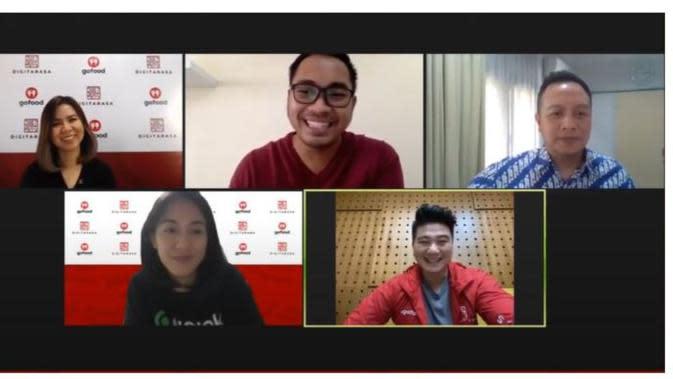 Diskusi Media via Youtube Live - Road to Batch 2 Digitarasa: Meningkatkan Bisnis F&B Lewat Program Promosi di Tengah Pandemi.foto: dok. Digitarasa
