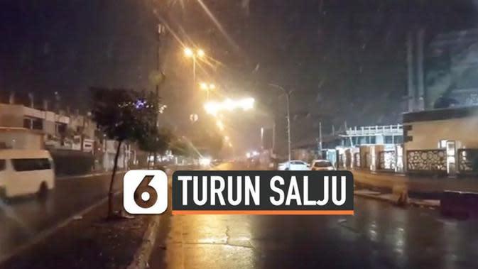 VIDEO: Setelah 12 Tahun, Salju Turun Lagi di Irak