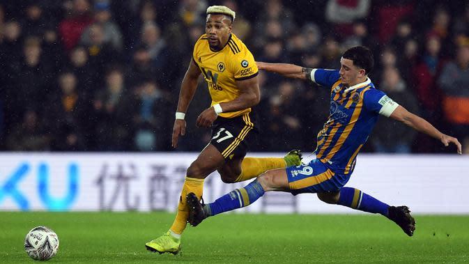 2. Adama Traore (Wolverhampton) - Rating lari 96 di FIFA 20. (AFP/Oli Scarff)