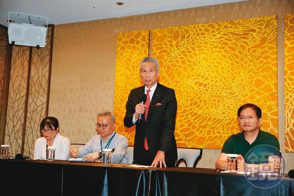 王光祥在大同股東會後召開記者會,呼籲主管機關要硬起來。