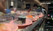 壽司大胃王!盤子疊超過身高就免費