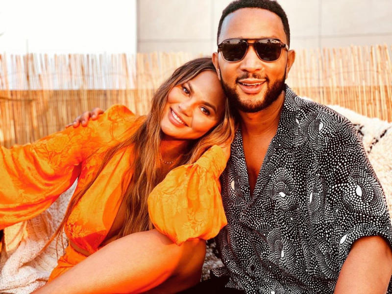 Chrissy Teigen said she and John Legend had given the name Jack to their unborn son. — Picture from Instagram/chrissyteigen