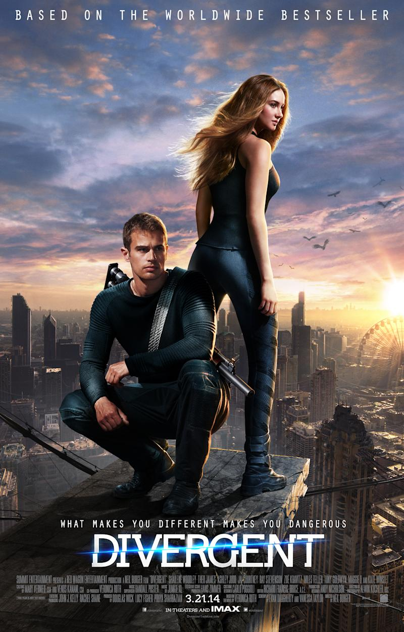Shailene Woodley and Theo James Face Their Fears in the 'Divergent' Poster Reveal