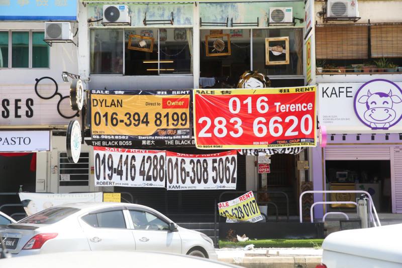 A boba tea shop in Subang Jaya's Boba Street forced to close during the lockdown.