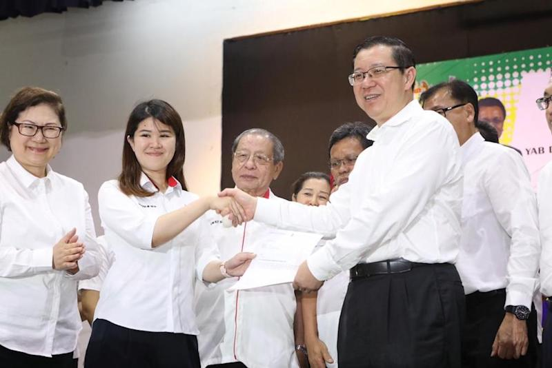 Vivian Wong, the youngest of four of the late Sandakan MP Datuk Stephen Wong's children, was named as the DAP candidate for the seat in the upcoming by election. — Picture courtesy of DAP