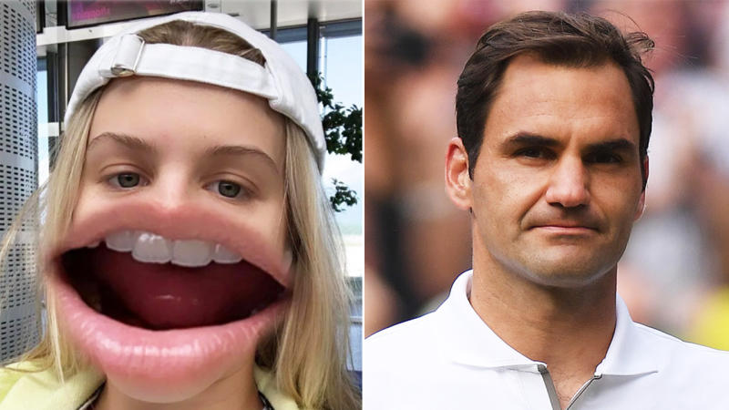 Genie Bouchard trolled Roger Federer after his Wimbledon loss. (Images: Instagram/Getty Images)