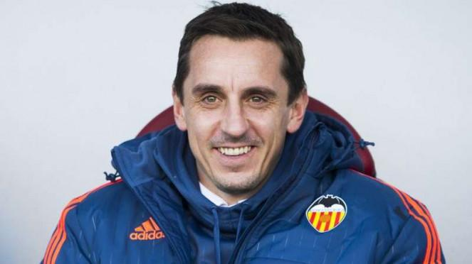 Gary Neville saat masih menjabat pelatih Valencia