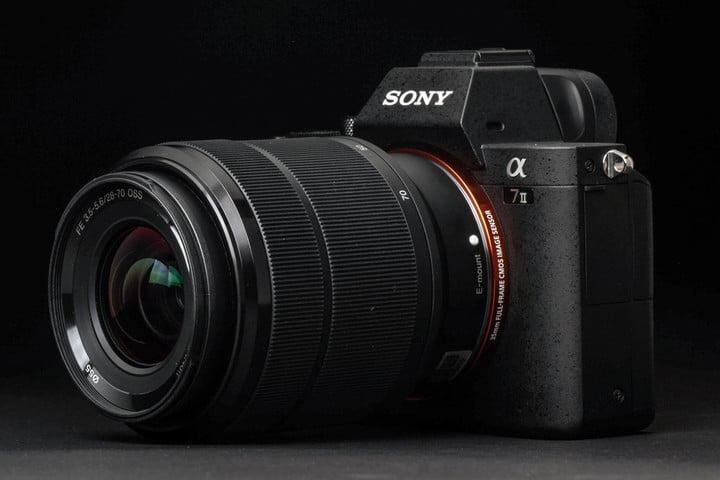 Sony Alpha A7 Mark II review front angle