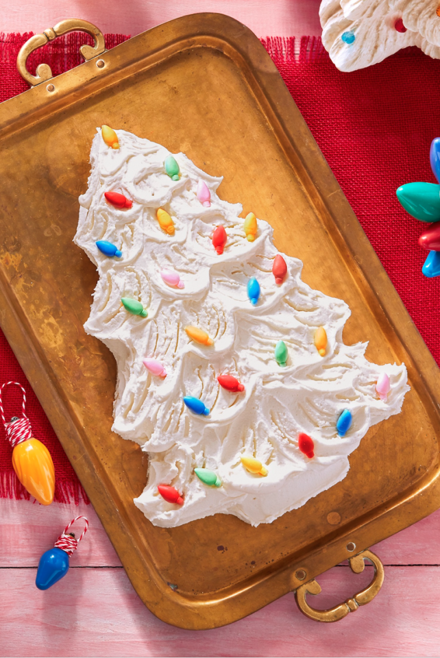 """<p>This cake is destined to be a showstopper, with its retro light bulbs and frosted branches. Your kids will love baking this with you—and eating it too!</p><p><strong><a href=""""https://www.countryliving.com/food-drinks/a29629010/retro-christmas-tree-cake-recipe/"""">Get the recipe</a>.</strong></p><p><strong><a class=""""body-btn-link"""" href=""""https://www.amazon.com/CK-Products-2-Inch-Christmas-Chocolate/dp/B003QP3CXI/?tag=syn-yahoo-20&ascsubtag=%5Bartid%7C10050.g.1036%5Bsrc%7Cyahoo-us"""" target=""""_blank"""">SHOP CHRISTMAS LIGHT MOLDS</a><br></strong></p>"""