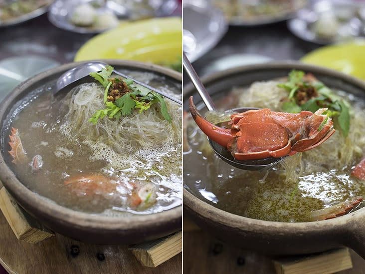 Rasa Lain's signature dish: claypot crab with plenty of glass noodles to soak up all the broth