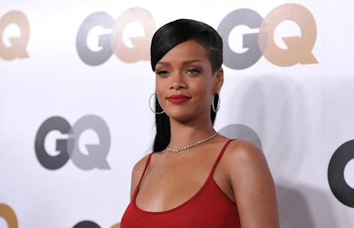 """Rihanna attends the GQ """"Men Of The Year"""" party at the Chateau Marmont on Tuesday, Nov. 13, 2012, in Los Angeles. (Photo by John Shearer/Invision/AP)"""