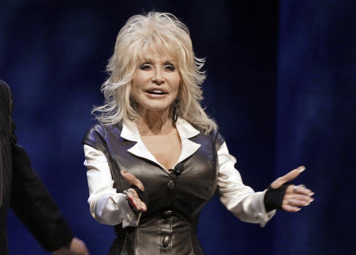 FILE - This Jan. 19, 2012 file photo shows entertainer Dolly Parton during a news conference in Nashville, Tenn., to announce plans for a water-snow park. Dollywood plans to open DreamMore Resort in 2015. It's part of a planned $300 million expansion to take place over the next decade. A new roller coaster, this one aimed at families, is scheduled to open in 2014. (AP Photo/Mark Humphrey, File)