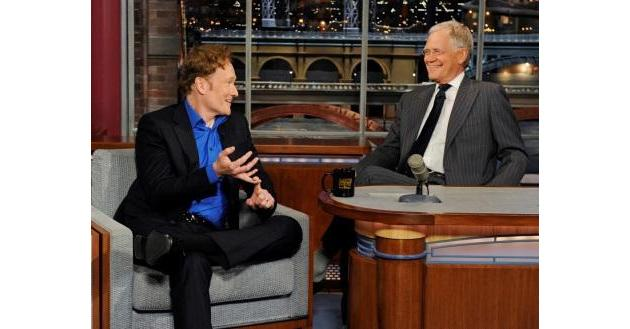 David Letterman and Conan O'Brien Poke Fun at Rival Jay Leno