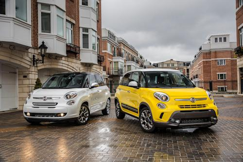 This publicity photo provided by Chrysler Group LLC shows the all-new 2014 Fiat 500L in Auburn Hills, Mich. The 500L is powered by a 160-horsepower turbocharged four-cylinder engine. There's a choice of manual or automatic six-speed transmissions. (AP Photo/Chrysler Group LLC)