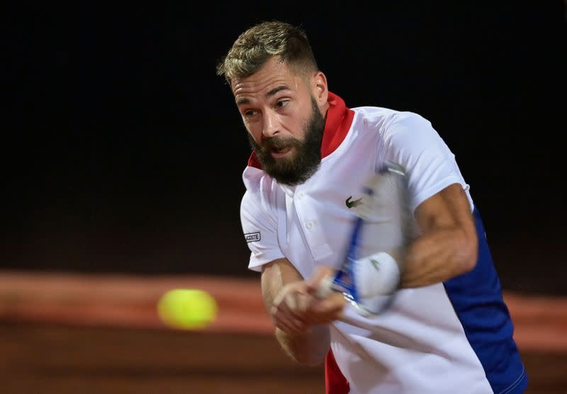 Paire wins but admits mixed COVID-19 test results have mentally drained him