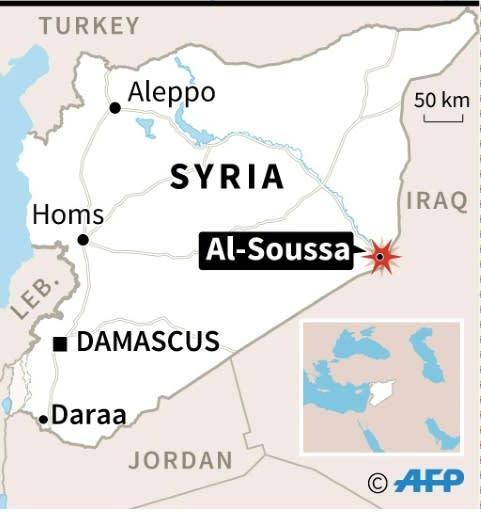 Map of Syria locating Al-Soussa