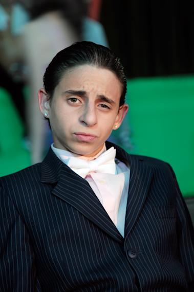 "Moises Arias on the set of ""We the Party"""