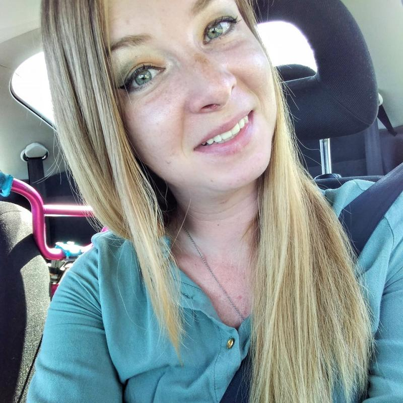 Charlene Sipes's mum found her daughter following the tragedy. She is pictured here in a selfie with her daughter's bicycle in the back seat.