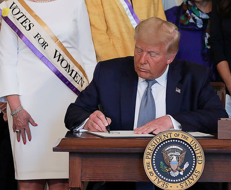 Trump says he will posthumously pardon U.S. women's rights activist Susan B. Anthony