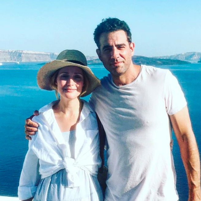 Rose and Bobby (here on holiday together earlier this year) have been together since 2012. Source: Instagram