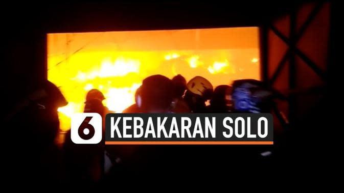 VIDEO: Gudang Penampungan Makanan Ludes Terbakar