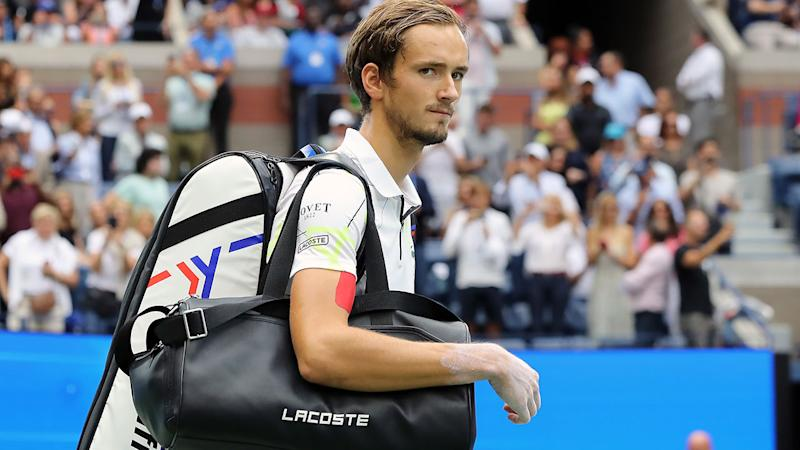 Daniil Medvedev, pictured here walking out on court for the US Open final.
