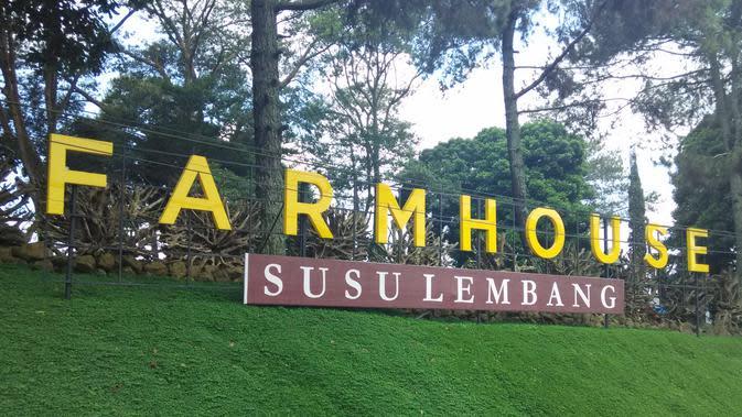 Penampakan depan Farmhouse Susu Lembang (Foto: Liputan6.com/ Firman Fernando)