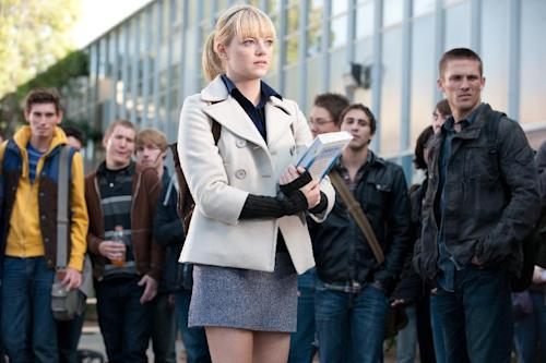"In this film image released by Sony Pictures, Emma Stone is shown in a scene from ""The Amazing Spider-Man, set for release on July 3, 2012. (AP Photo/Columbia - Sony Pictures, Jaimie Trueblood)"