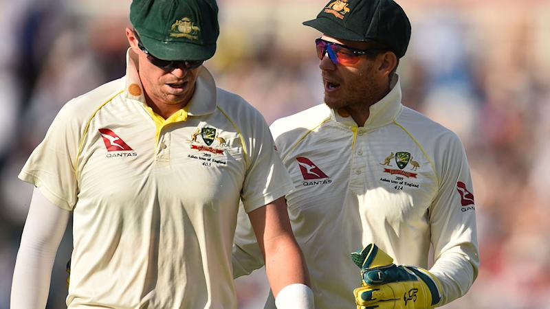Peter Siddle and Tim Paine, pictured here during the fifth Ashes Test.
