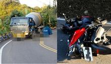 跨雙黃線!彰化男騎重機玩遇死劫 對撞水泥車慘爆頭慘死