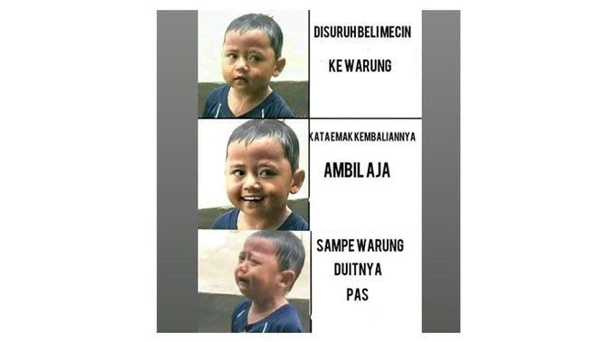 Meme Lucu Saat Disuruh Emak Belanja Ini Bikin Ketawa Geli (sumber:1cak.com)