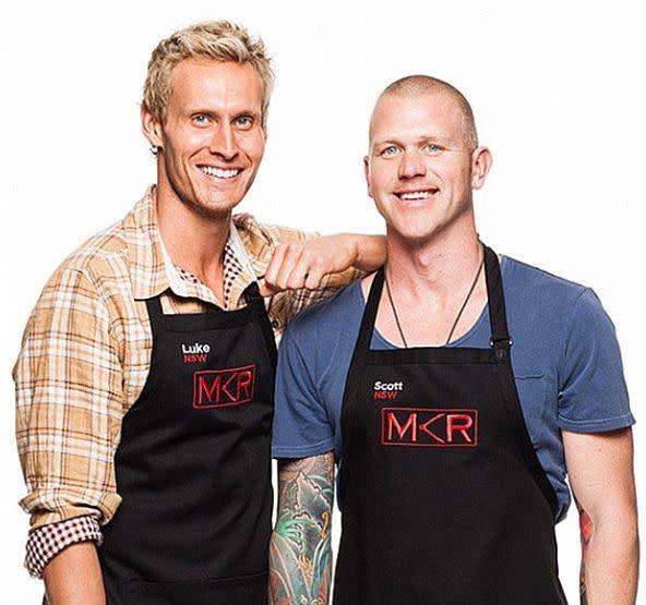 Scott Gooding appeared on My Kitchen Rules in 2013 alongside Luke Hines. Photo: Channel Seven