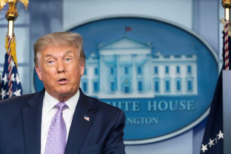 Trump says coronavirus vaccine possible before Nov. 3