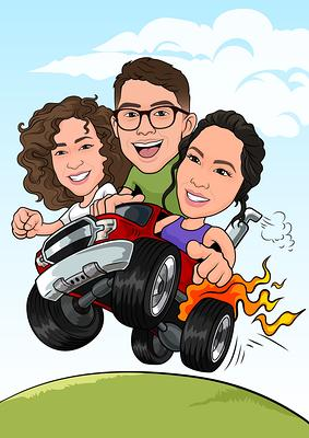 Customized Gift CARTOON Digital portrait Avatar Illustration Personalized  portrait Social Media profile Profile picture
