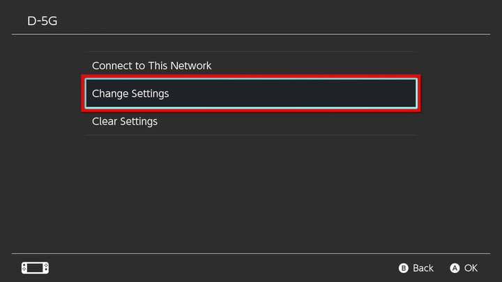 Nintendo Switch Change Internet Settings
