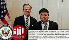 【錯誤】網傳圖片宣稱「前香港美領事,現調任泰國...所以泰國這次的運動,模式和內容基本上和太陽花、香港完全一模一樣」?
