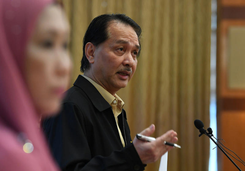 Health director-general Datuk Dr Noor Hisham Abdullah said Malaysia recorded just two new Covid-19 infections over the last 24 hours as of noon today. — Bernama pic
