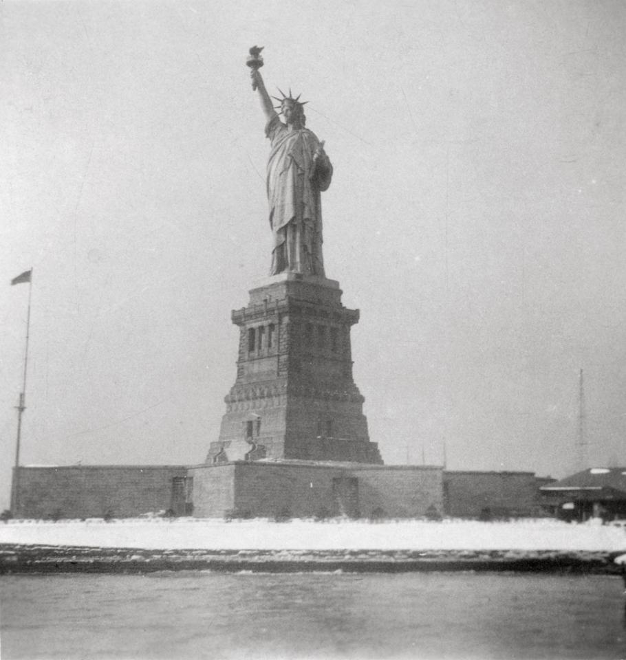 <p>Erected in 1875, the Statue of Liberty was given as a gift to the United States from France. It stands on Liberty Island off the shore from lower Manhattan. </p>